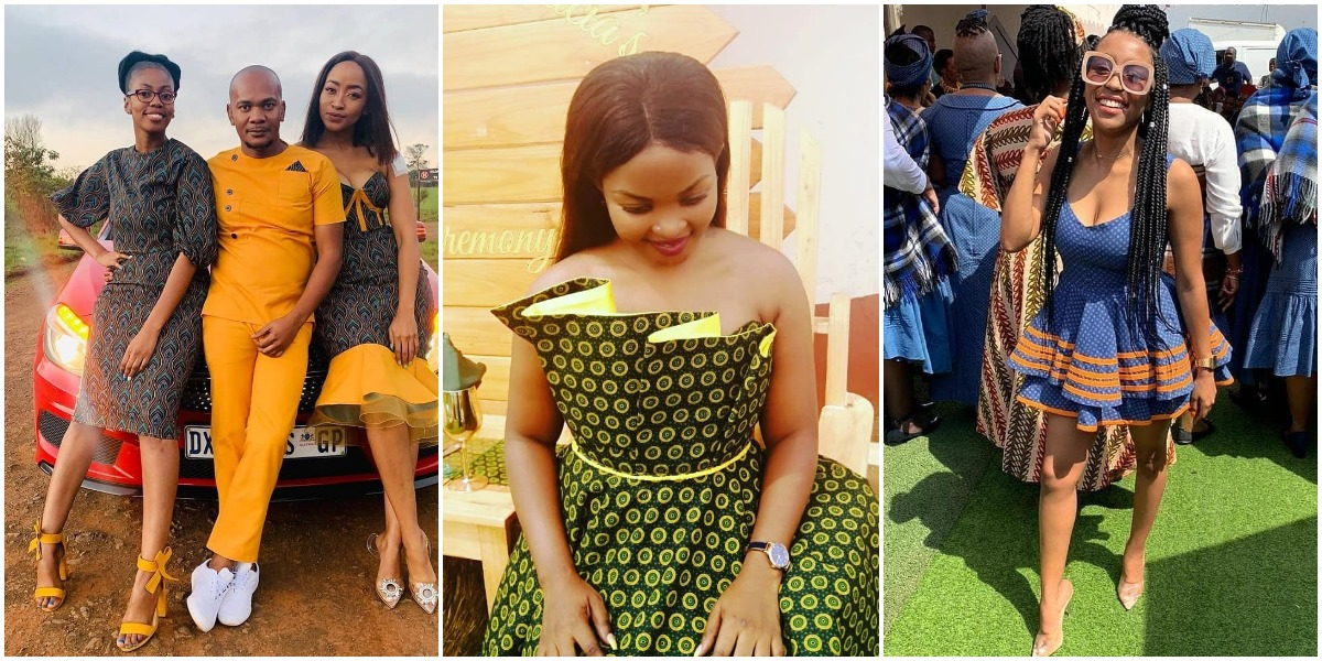 LATEST TRADITIONAL SHWESHWE  ATTIRES FOR AFRICAN WOMEN