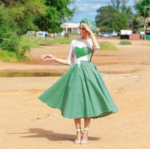 African Shweshwe Dresse