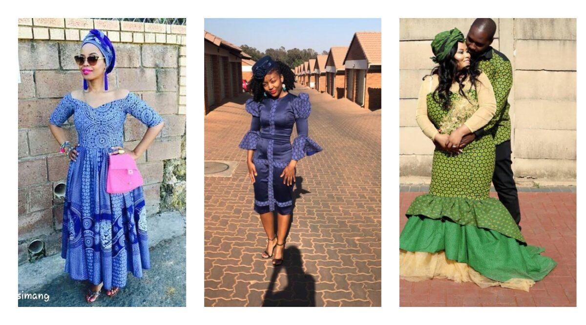 Hot and Stylish South African Shweshwe Dresses 2021