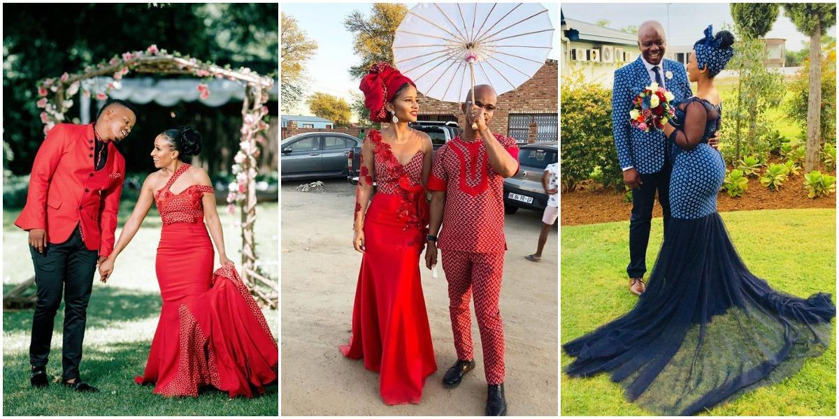 african shweshwe wedding dress