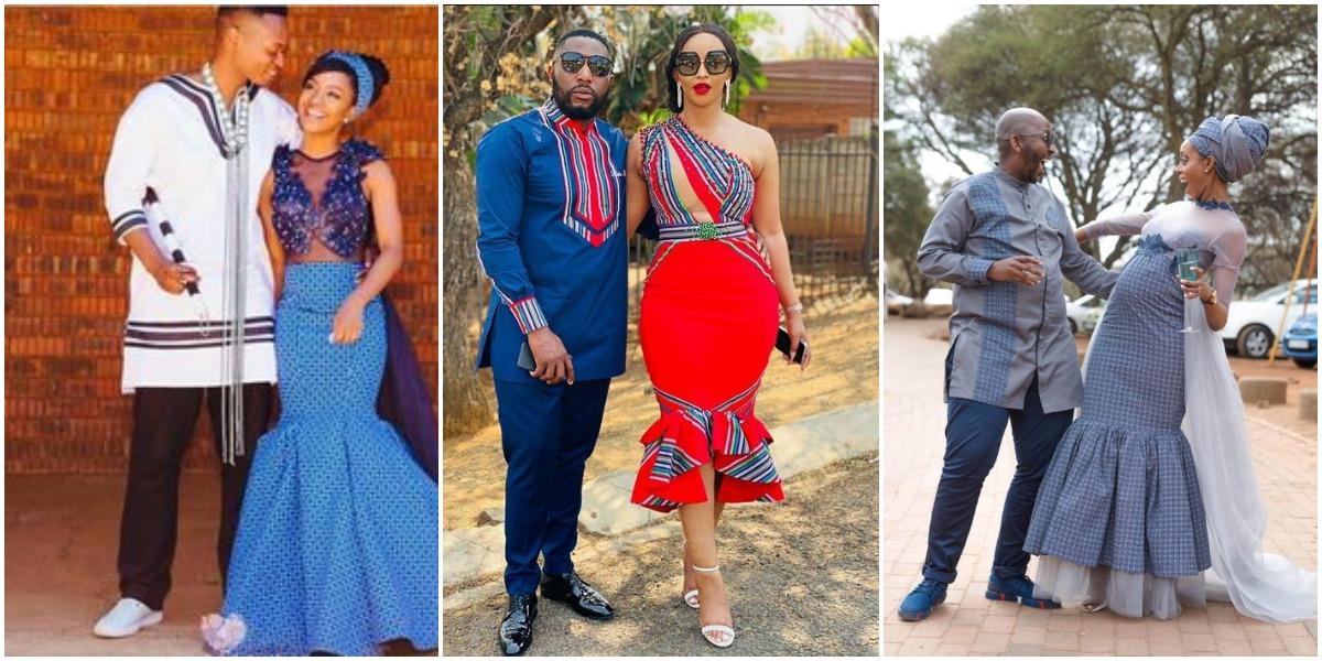 shweshwe dresses For Couples 2021
