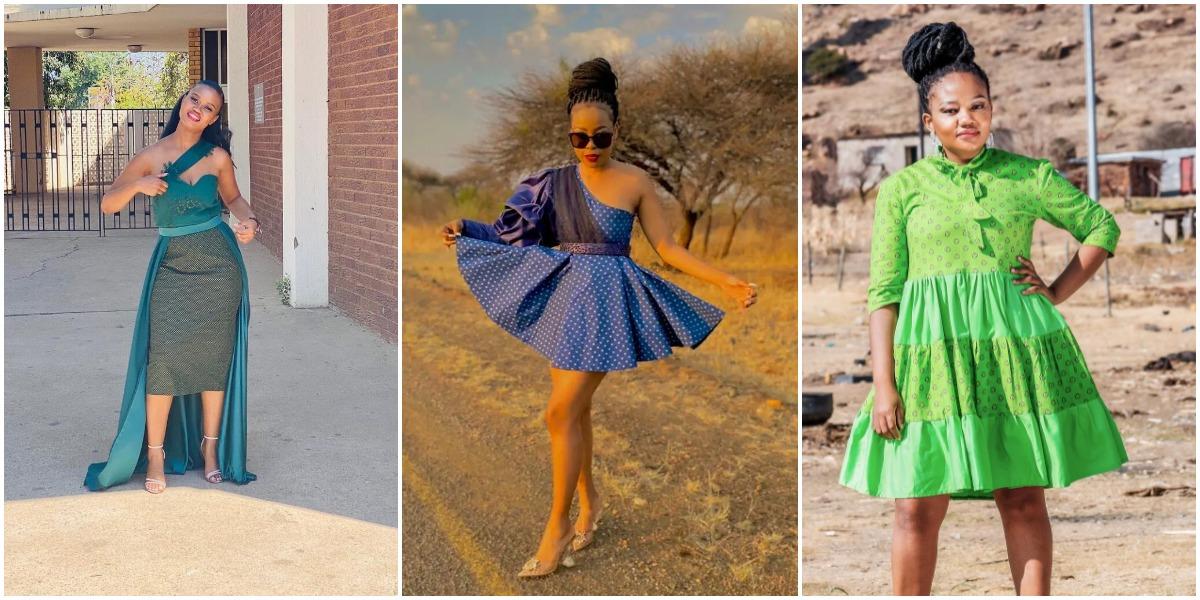 Gorgeous Shweshwe Dresses For African Ladies